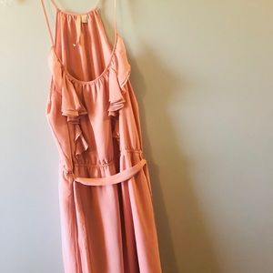 Peachy color dress wore once